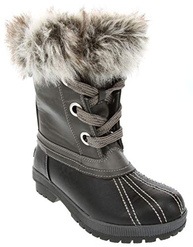 LONDON FOG Milly Cold Weather Watrproof Snow Boot Black 7