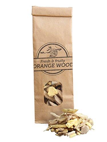 Smokey Olive Wood 500mL de copeaux d'oranger de Taille Moyenne 2-3cm de