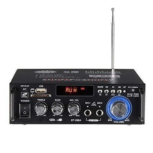 Amplificador de audio HIFI 600 W, estéreo, Bluetooth, amplificador MP3, SD, USB, FM, para coche doméstico, 12 V/220 V-240 V