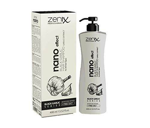 Zenix Nano Effect Knoblauch Shampoo 400ml ohne Salz Black Garlic Series