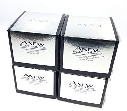4 x AVON Anew Platinum Define & Contour Tagescreme LSF 25 50ml SET !