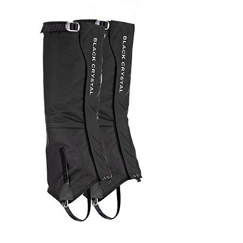 Guêtres de randonnée Black Crystal pour hommes en nylon imperméable et respirant taille grand