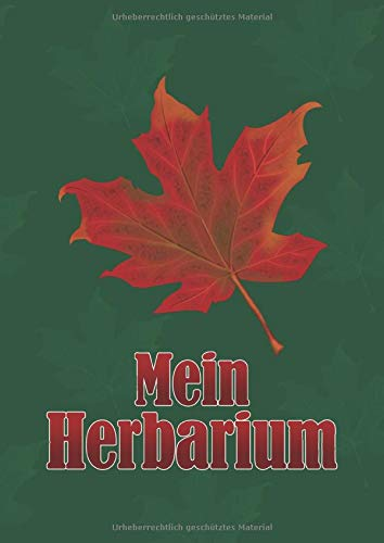 Mein Herbarium: Sammelalbum zur Pflanzenbestimmung - 120 Seiten, DIN A4, Leer
