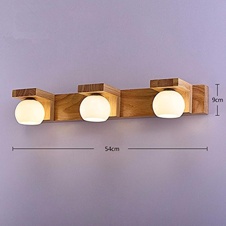 StiefelU LED Wandleuchte nach oben und unten Wandleuchten Wohnzimmer Schlafzimmer Wand lampe Nachttischlampe wc Holz- 3-Leiter