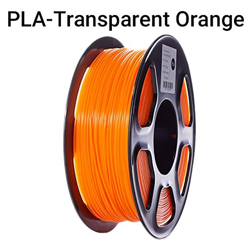 PLA 3D Imprimante Filament Filament 1.75mm Précision dimensionnelle +/- 0,02 mm 343m 1 kg / 2,2 LB Spool Matériel d'impression 3D for RepRap PLA Filament (Color : Orange)