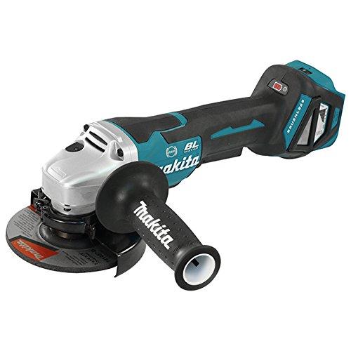 Makita DGA517Z Winkelschleifer 18,0 V mit Paddleschalter (ohne Akku, ohne Ladegerät), 18 V, Schwarz, Blau