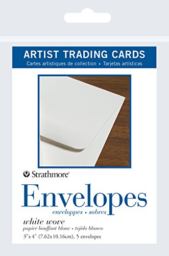 Strathmore (105-909 Wove Envelopes for Artist Trading Cards, Natural White, 5