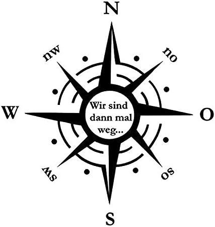 Generisch Kompass Schriftzug Aufkleber Windrose Aufkleber 30x30cm 40x40cm 50x50cm Und 60x60cm Für Caravan Wohnmobil Wohnwagen Auto Oder Als Wand Tattoo 243 Grau Matt 40 X 40cm Auto