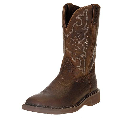 Justin Boots Company Mens Stampede Amarillo 11 Cactus Top Soft Toe Work Boot 11.5 Brown