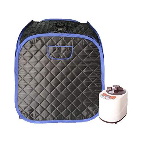 Smartmak Steam Sauna, Portable One Person at Home Full Body Tent 2L Steamer with Remote Control -Black