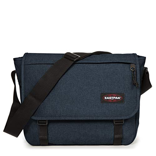 Eastpak Delegate + Borsa Messenger, 39 cm, 20 L, Blu (Triple Denim)