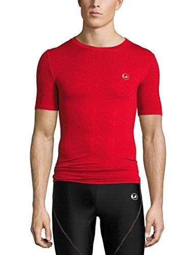 Ultrasport Basic Noam Camiseta de compresión sin Costuras, Hombre, Rojo, S/M