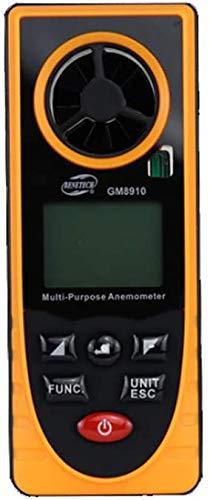 J & J Professioneller Anemometer, bewegliche Handwindgeschwindigkeit-Messinstrument mit Hintergrundbeleuchtung zur Messung Windgeschwindigkeit Temperatur Wetterdatenerfassung