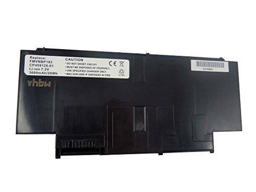 vhbw Li-Ion Batterie 3600mAh (7.2V) pour ordinateur portable, Notebook Fujitsu LifeBook UH900 UMPC comme FMVNBP183.