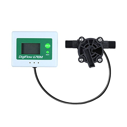 VYAIR DigiFlow 6710M-34 Micro débit numérique pour osmose inverse commerciale et industrielle 0,04 à 1,0 litres/minute avec connecteurs mâles BSP 6,35 mm