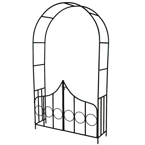 TecTake Arco para Enredaderas Arco de Rosas con la Puerta
