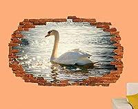 NIUASH ウォールステッカー 白鳥の湖スパーク3Dウォールステッカーアートルームデコレーションデカール壁画50x70cm 50x70_cm