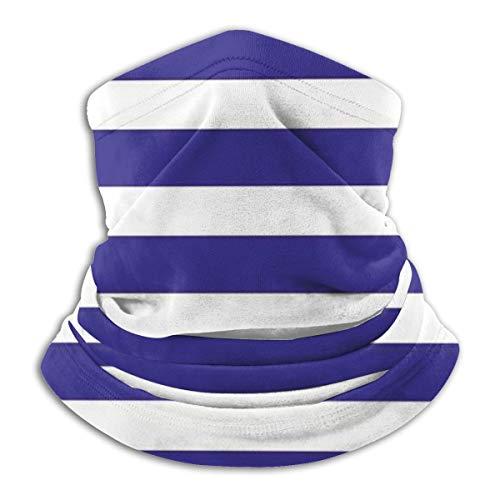 Nautische Marine Stijl Navy Blauw En Wit Zeeman Thema Geometrische Patroon Art Print Microvezel Nek Warmer Vissen Ski Beschermende Nek Sjaal