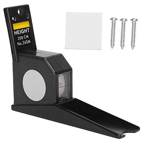 Cinta métrica de altura del medidor de estatura de 2 M, regla de cinta de medición retráctil Herramienta de herramienta de medición de metal para niños adultos(Blanco) ⭐