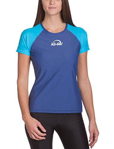 iQ-UV Damen 300 Regular Geschnitten, Uv-Schutz T-Shirt,Mehrfarbig (Tury-Blau (Navy)),L (42)