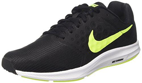 Nike Downshifter 7, Zapatillas de Running Hombre, Negro (Black/volt-white), 42.5 EU
