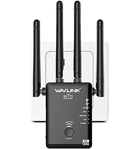 UTOPB 1200Mbps WiFi Repeater Wireless Signal Booster, 5GHz & 2.4GHz Dual...