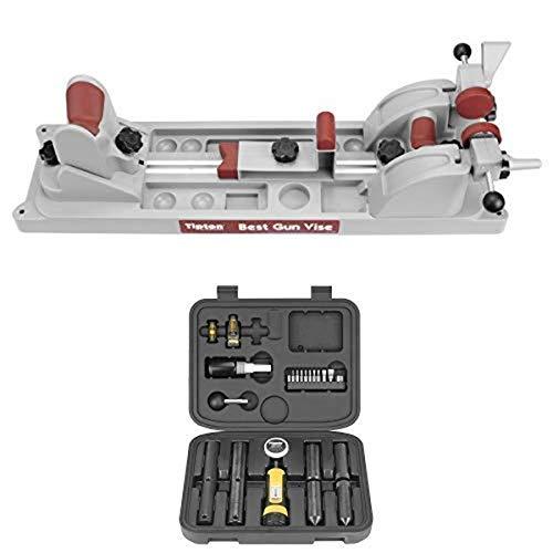 Tipton Best Gun Vise for Cleaning, Gunsmithing and Gun Maintenance and Wheeler Scope Mounting Kit Combo, 1-Inch/30mm - 545454