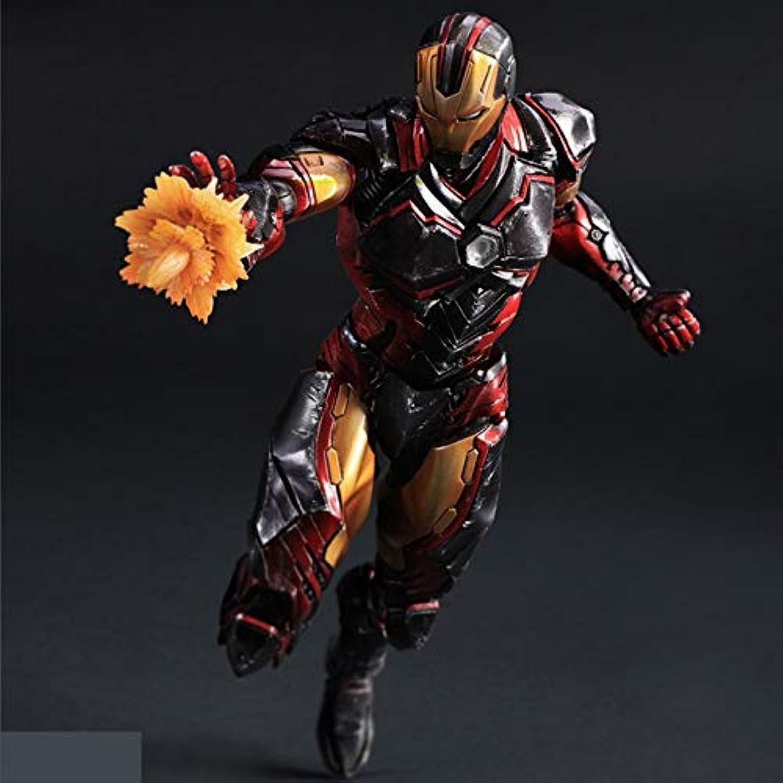 nuevo estilo Ldwxxx Iron Iron Iron Man MK43 rojo Tony Puede Hacer a Mano el Modelo Estatua Exquisito Anime Adorno 28 cm decoración Anime  compras en linea