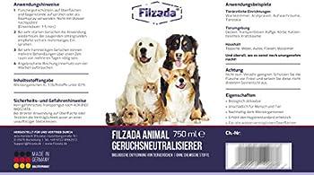 Filzada® Animal - Désodorisant pour animaux/neutralisant d'odeurs - Tueur d'odeurs idéal pour l'urine de chat et les odeurs d'animaux