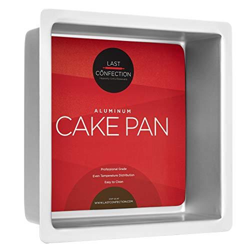 Last Confection 8' x 8' x 3' Deep Square Aluminum Cake Pan - Professional Bakeware