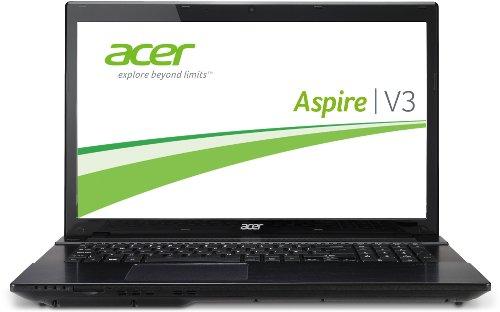 Acer Aspire V3-772G-747a161TMakk 43,9 cm (17,3 Zoll) Notebook (Intel Core i7 4702MQ, 2,2GHz, 16GB RAM, 1TB HDD, NVIDIA GT 750M, DVD, Win 8) schwarz