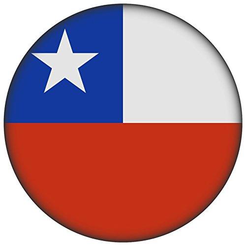 FanShirts4u Button/Badge/Pin - I Love CHILE Fahne Flagge (Chile/Flagge)