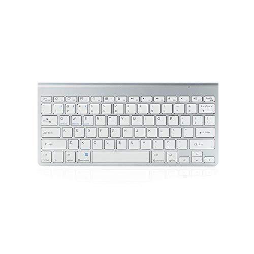 Y-hm Sensación cómoda Teclado de Tableta de Teclado de Bluetooth de Radiocomunicaciones Universal para Tablet PC Diseño portátil (Color : Silver)
