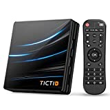 TICTID Android TV Box Android 10.0【4G+64G】 RK3318 Boitier Android TV D1 Pro Quad-Core 64bit...
