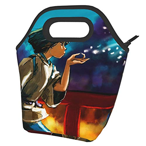 Spirited Away Lunch Bag Tote Bag Lnsulated Lunch Cooler Bag for Women/Men Lunch Box Tote Bag Snacks Organizer Lunch Holder for Women Men Office Work School Beach Party Boating Fishing Picnione Size