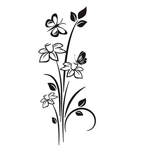 J47 Narzissen Schmetterlinge wiederverwendbare Schablone A3 A4 A5 & größere Größen Floral Shabby Chic, Widerverwendbare PVC-Schablone, A4 size - 210 x 297 mm, 8.3 x 11.7 in