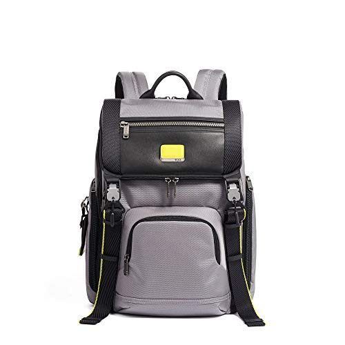 TUMI - Alpha Bravo Lark Laptop Backpack - 15 Inch Computer Bag for Men and Women - Grey/Bright Lime