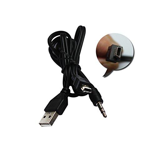 AUX y cargador 2 en 1 cable USB, USB macho Minis USB...