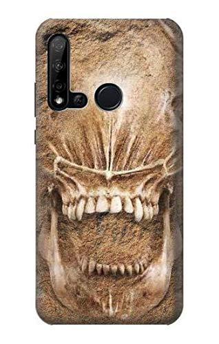 Innovedesire Alien Skull Fossil Hülle Schutzhülle Taschen für Huawei P20 lite (2019)