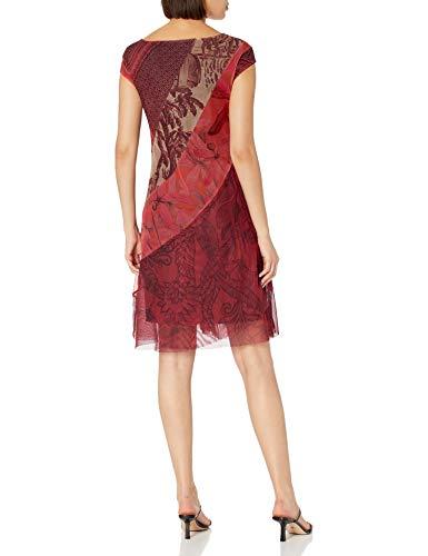 Desigual Vest_Houston Vestido Casual, Rojo, M para Mujer