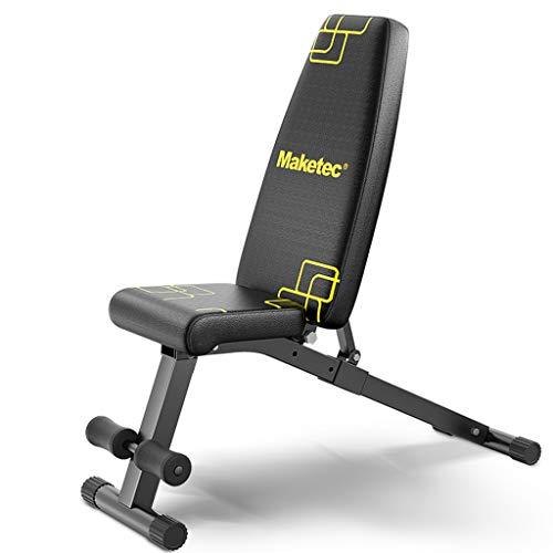 Lxn Multifunktionale Kurzhantelbank, Faltbare Fitnessgeräte für zu Hause Sit-Ups, Bauchplatte, ergonomisches Design, 180 ° Stretching, 360 ° Verdrehen