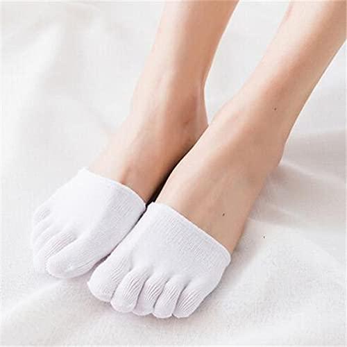 MURUI WZ01 2 Paar halbe Handfläche fünf Finger Socken Damen Baumwolle unsichtbar Sommer dünn halber Clip High Heel atmungsaktiv Vorderfuß Fünf Finger Socken Slip YC0405 (Farbe: N)