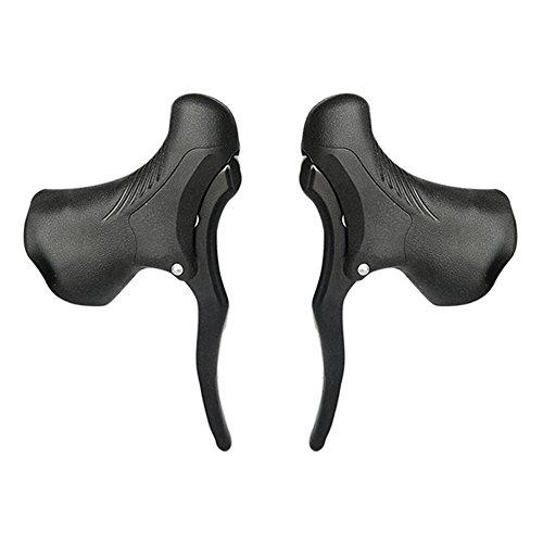 Lixada Paar Leichte Aluminium Fahrradbremsgriff, MTB Bremshebel Vorne und Hinten Bremshebel Drop Lenker Set