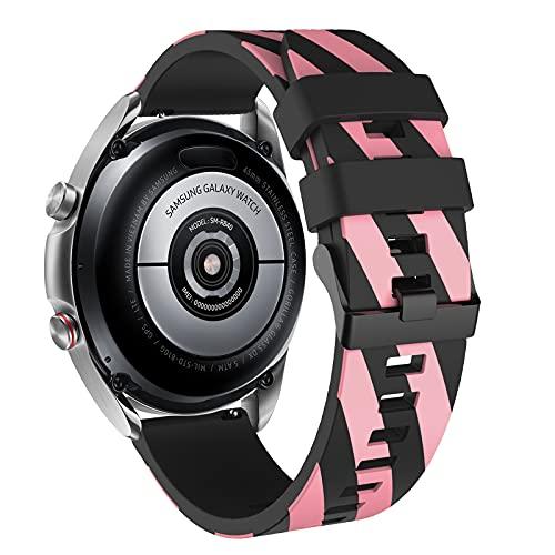 Vozehui - Cinturino compatibile con Samsung Gear S3 Frontier/Gear S3 Classic/Galaxy Watch 45 mm 46 mm/Huami amazfit 2/Huawei Watch GT/Huawei Honor 222 mm morbido silicone sportivo cinturino da polso,