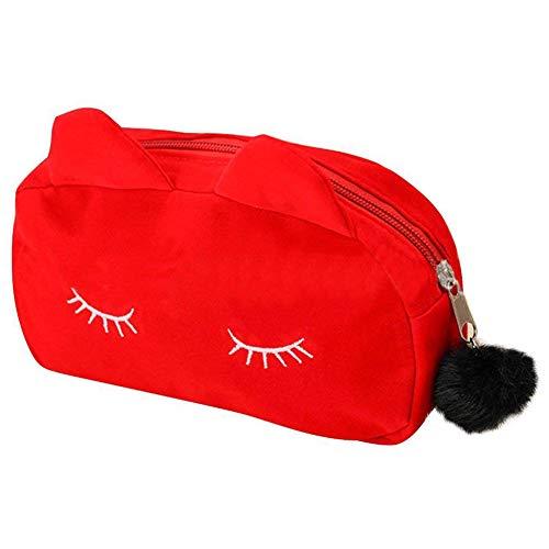 Andifany Motif De Bande Dessinée Portable De Maquillage Sac De Maquillage Sacs Stylo Etui Crayon Etui Rouge