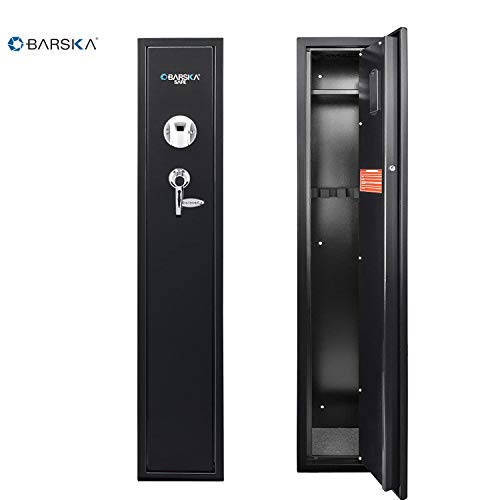 Barska Quick and Easy Access Biometric Rifles, Firearms and Long Guns Safe for Home, Removable Shelf, Optional Silent Mode, 1.83 Cubic Ft