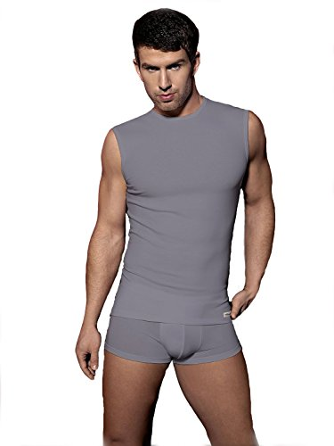Carlos hochwertige Marken-Unterwäsche Business-Unterhemd ohne Arm Grau XXL