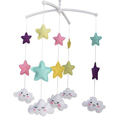 Divertidos juguetes para bebés, decoración infantil, campana de cuna recién nacida, caja de música aleatoria (canción de cuna de Mozart o canción de cuna de Brahms)-E28