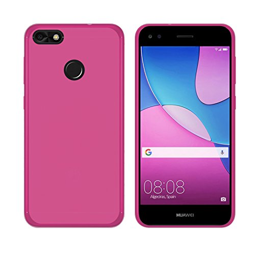 TBOC® Funda de Gel TPU Rosa para Huawei Y6 Pro (2017) - Huawei P9 Lite Mini (5.0 Pulgadas) de Silicona Ultrafina y Flexible