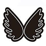 N / B Luces de neón Decoradas con alas, Letrero de lámpara con Letras acrílicas Transparentes Flexibles, Letrero Abierto de neón LED, iluminación de Modelado de alas de neón